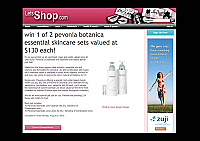 Pevonia-June-2010-AU-Let's-Shop-Win 1of 2-Pevonia-Botanica-Essential-Skincare-Set-Pevonia-Essential-Line-Cleanse-or-Pevonia-Essential-Line-Lotion