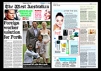 Pevonia-July-2011-AU-West-Australian-Newspaper-Pevonia-Aromatic-Moor-Mud-and-Enzymo-Spherides-Peeling-Cream